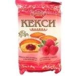 Fruitcake Domashne sviato raspberry with filling 210g Ukraine