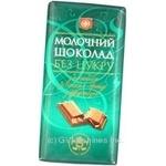 Шоколад молочный с бренди в плитках для диабетиков 38% 90г Украина
