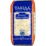 Крупа рис жасмин Такида длиннозерный шлифованный 1000г полиэтиленовый пакет Украина