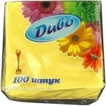 Napkins Dyvo yellow paper for serving 100pcs