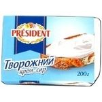 Сыр-крем Президент 20% 200г Украина