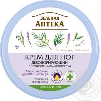 Крем для ног Зеленая Аптека эфирное масло чайного дерева 300мл