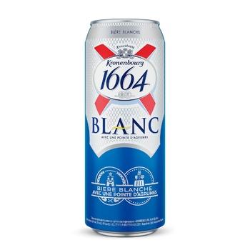 Пиво Kronenbourg 1664 Blanc светлое 4,8% 0,5л - купить, цены на МегаМаркет - фото 1