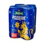 Пиво Львовское Рождественское темное 4,4% 4x0,5л