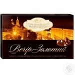 Конфета Авк Вечер золотой шоколад с начинкой 255г коробка Украина