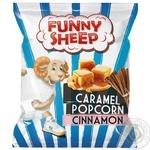 Попкорн Funny Sheep у карамелі з корицею  50г