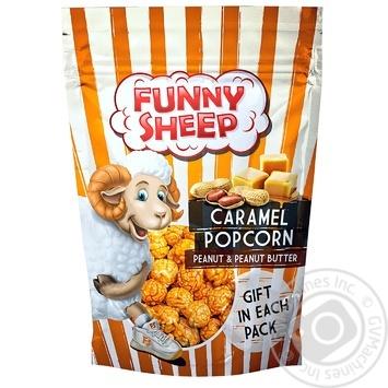 Попкорн Funny Sheep в карамели с арахисом и арахисовым маслом  100г