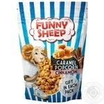 Funny Sheep Popped Corn Coated With Caramel With Cinnamon  100g