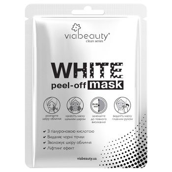 Via Beauty White Mask Face Mask With Hyaluronic Acid - buy, prices for Tavria V - image 1
