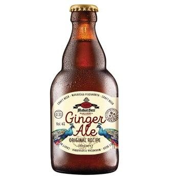 Пиво Makar Beer Ginger Ale светлое нефильтрованное 4% 0,33л