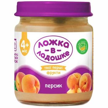 Lozhka v Ladoshke Peach Meat Puree 100g - buy, prices for Furshet - image 1