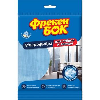 Салфетка Фрекен Бок для стекла и зеркал микрофибра шт - купить, цены на Novus - фото 1