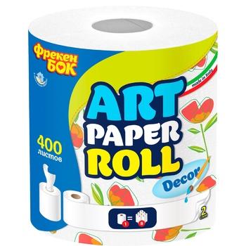 Полотенца бумажные Фрекен Бок Decor 400арк - купить, цены на Восторг - фото 1