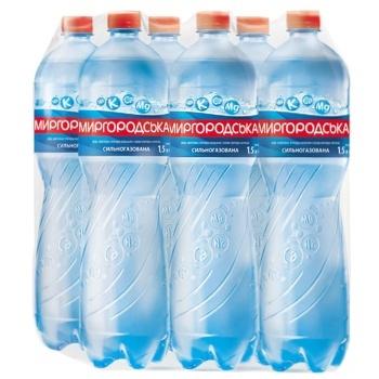 Вода Миргородская минеральная сильногазированная 1,5л - купить, цены на Метро - фото 1