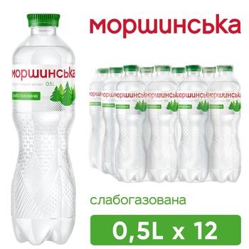 Вода минеральная Моршинская слабогазированная 0,5л - купить, цены на Метро - фото 1