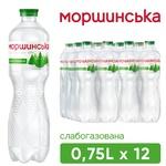 Вода Моршинська слабогазована 0,75л