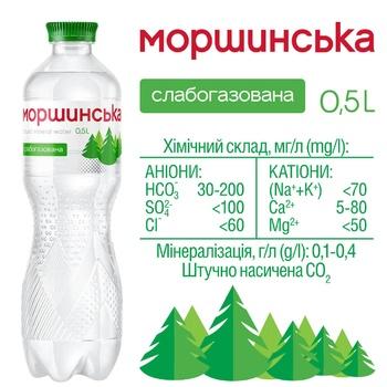 Вода минеральная Моршинская слабогазированная 0,5л - купить, цены на Метро - фото 2