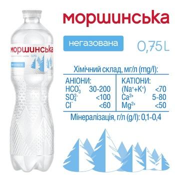 Вода минеральная Моршинская негазированная 0,75л - купить, цены на Метро - фото 3