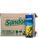Сок Sandora виноградный 0,95л опт*10шт