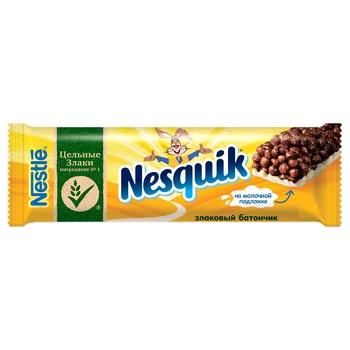 Батончик NESTLÉ® NESQUIK® з цільними злаками какао и вітаміном Д 25г - купити, ціни на УльтраМаркет - фото 1