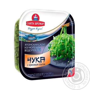 Салат Санта Бремор Чука з морських водоростей с горіховим соусом 150г - купити, ціни на Восторг - фото 1