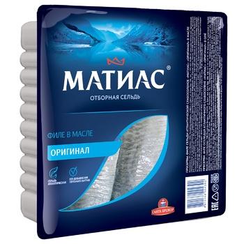 Santa Bremor Matias in oil herring fillet 1000g - buy, prices for Tavria V - image 1