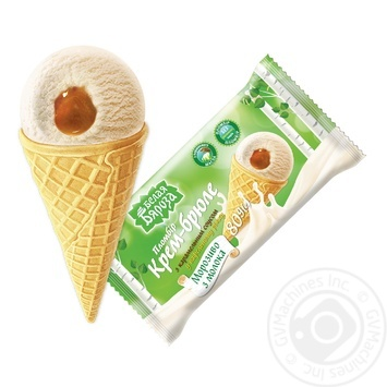 Bielaja Biaroza Ice cream creme brulee with caramel sauce in a waffle cone 80g - buy, prices for Furshet - image 1