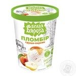 Морозиво Белая Бяроза пломбір груша-персик з молока 555г