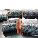 Fish salmon pieces