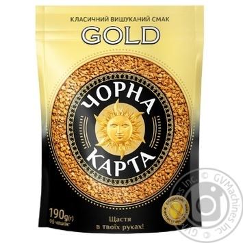 Кофе Чорна Карта Gold растворимый 190г