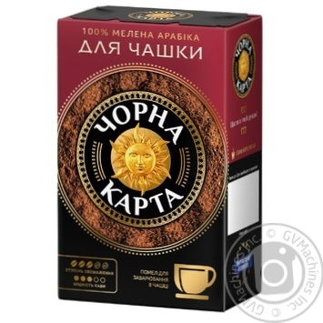 Chorna Karta For cup ground coffee 230g - buy, prices for MegaMarket - image 1