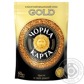 Chorna Karta Gold instant coffee 60g - buy, prices for Novus - image 1
