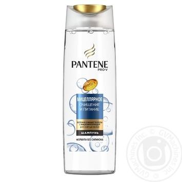 Шампунь Pantene Pro-V Мицеллярное очищение и питание без силикона для жирных волос 400мл - купить, цены на Метро - фото 1