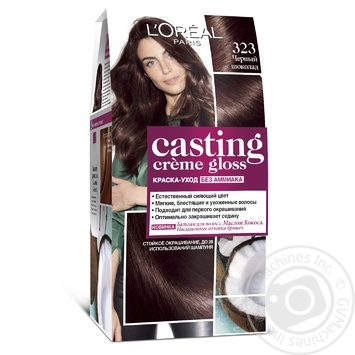 Краска-уход для волос L'Oreal Casting Creme Gloss 323 Черный шоколад без аммиака