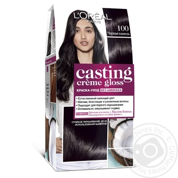 Краска-уход для волос L'Oreal Casting Creme Gloss 100 Черная ваниль без аммиака - купить, цены на Novus - фото 1