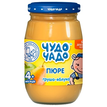 Chudo-Chado pear-apple puree without sugar for children from 4 months 170g - buy, prices for EKO Market - photo 1
