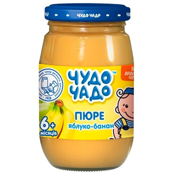 Chudo-Chado banana-apple puree without sugar for children from 6 months 170g