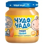 Chudo-chado for children from 3 months sugar free pear puree 90g