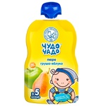 Chudo-Chado pear-apple puree without sugar for children from 4 months 90g