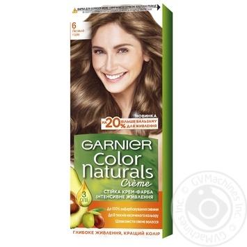Краска для волос Garnier Color Naturals Creme с 3-мя маслами №6 Лесной орех - купить, цены на МегаМаркет - фото 1
