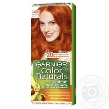 Краска для волос Garnier color naturals №7.40 огненный медный - купить, цены на Ашан - фото 1