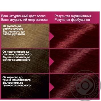 Краска для волос Garnier Color sensation №5.62 интенсивный гранатовый 1шт - купить, цены на Novus - фото 2