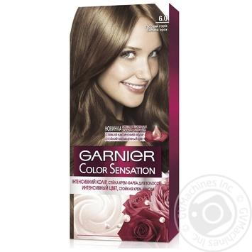 Крем-краска для волос Garnier Color Sensation №6.0 Лесной орех - купить, цены на Novus - фото 1
