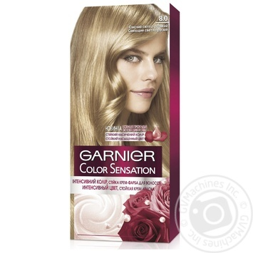 Garnier Color sensation №8.0 Cream hair dye shining light brown 1pcs - buy, prices for Novus - image 1