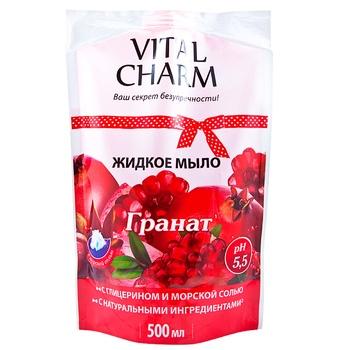Soap Vital charm pomegranate liquid for body 500ml Ukraine - buy, prices for Furshet - image 1