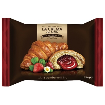 LaCrema Croissant with strawberry filling 65g - buy, prices for CityMarket - photo 1