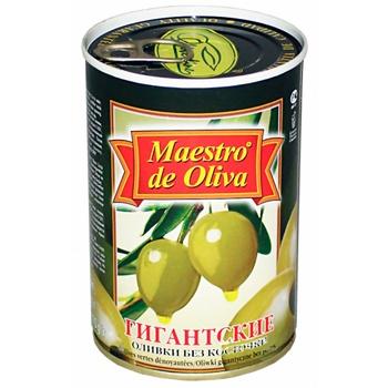 Оливки Maestro de Oliva Гигантские без косточки 432г - купить, цены на МегаМаркет - фото 2