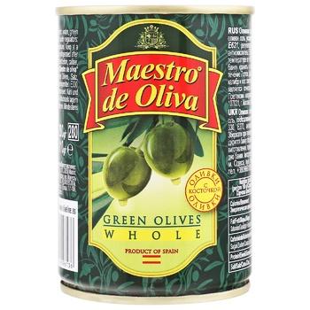 Оливки Maestro de Oliva з кісточкою 280г