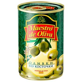 Оливки Maestro de Olivia без кісточки 300г