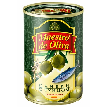 Maestro de Oliva Green Olives with tuna 300ml